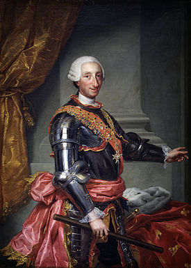 Retrato de Carlos III, rey de España en la segunda mitad del siglo XVIII