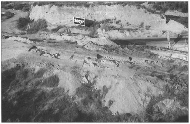 Vista aérea general del yacimiento de Puente de Santa Bárbara