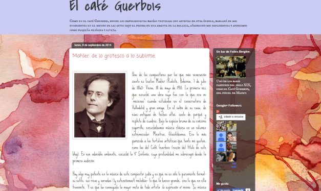 Captura de pantalla de este gran blog de difusión cultural y artística decimonónica