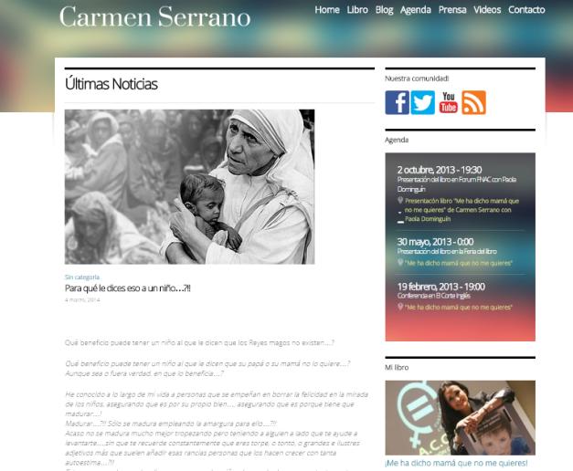 Captura de pantalla de uno de los artículos de esta gran web