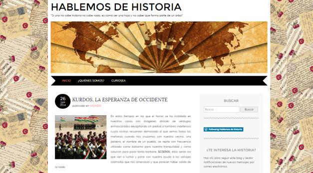 Captura de pantalla general de este gran blog de Historia para mentes curiosas