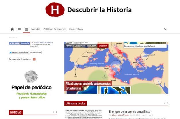 Captura de pantalla general de este magnífico blog de Historia para todos públicos