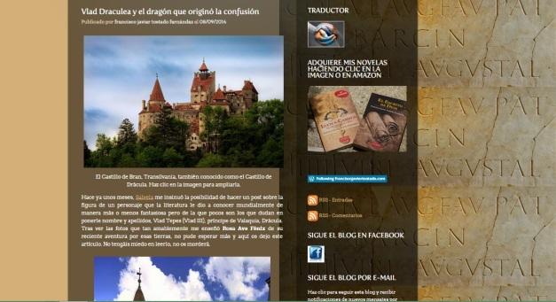 Captura de pantalla general de uno de los artículos de este magnífico blog de Historia