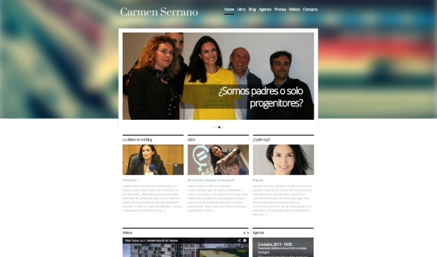 Captura de pantalla general del aspecto de esta gran web