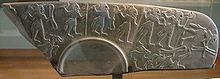 Fragmento de paleta ceremonial datada en el periodo protodinástico