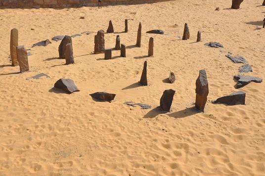 Imagen del estado actual de la construcción megalítica egipcia de Nabta Playa