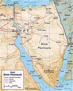 Mapa de la península del Sinaí