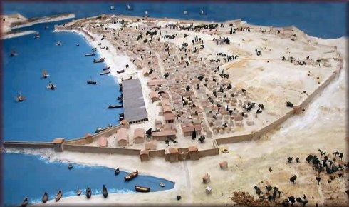 Reconstrucción histórica de la colonia griega de Massalia, actual Marsella