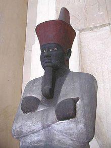 Una estatua tipo Osiris del primer gobernante del Reino Medio, Montuhotep II