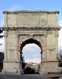 Una imagen del Arco de Tito, construido poco tiempo después de la muerte del emperador