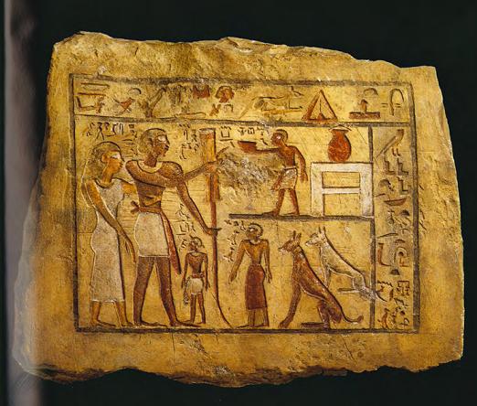 Estela de un mercenario nubio hallada en su tumba, datada del periodo PPI
