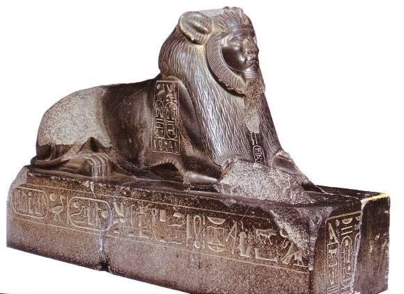 Estatua del rey Amenemhat III en forma de esfinge