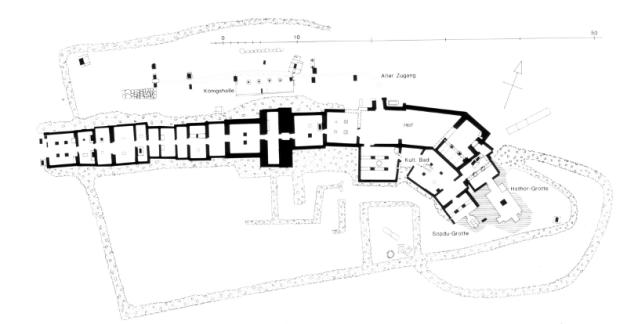 Planta que tendría el templo dedicado a Hathor en la Península del Sinaí