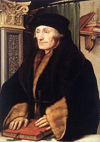 Retrato que muestra a Erasmo de Róterdam en el año 1523