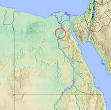 Ubicación en un mapa de la ciudad de Heracleopolis Magna