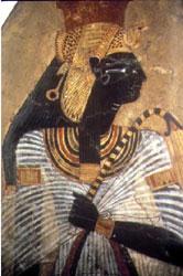 Imagen que muestra otra representación de Ahmose Nefertari, madre de Amenhotep I