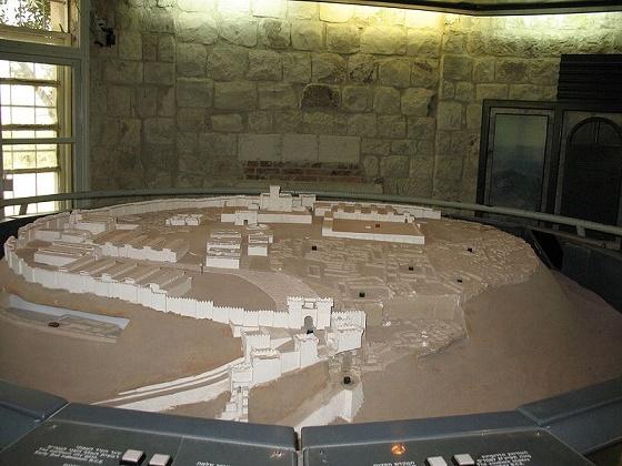 Maqueta que muestra una reconstrucción de cómo debió de ser la ciudad de Megido