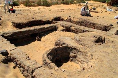 Parte de un yacimiento arqueológico datado del Segundo Periodo Intermedio