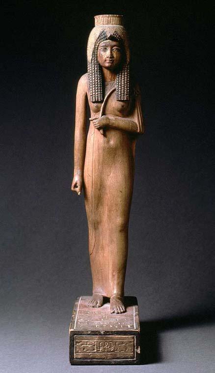 Pequeña escultura que representaría a Ahmose-Nefertari, la madre de Amenhotep I, el segundo rey de la dinastía XVIII