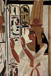 Representación de Nefertary Meritenmut, una de las esposas reales del rey Ramsés II