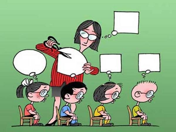 Viñeta que representa claramente lo que se pretende conseguir con la educación actual