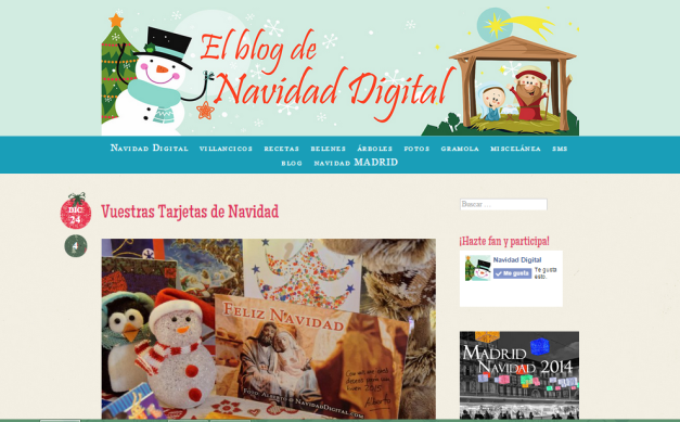 Captura de pantalla general de este blog navideño