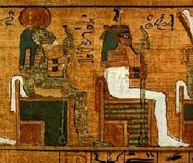 Escena que representaría a esta mítica pareja divina Shu y Tefnut, hijos del dios Atum
