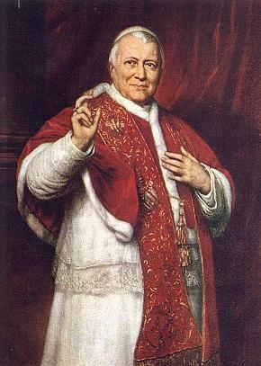 Imagen del papa Pio IX, el papa que dictó la bula Ineffabilis Deus el 8 de diciembre de 1854