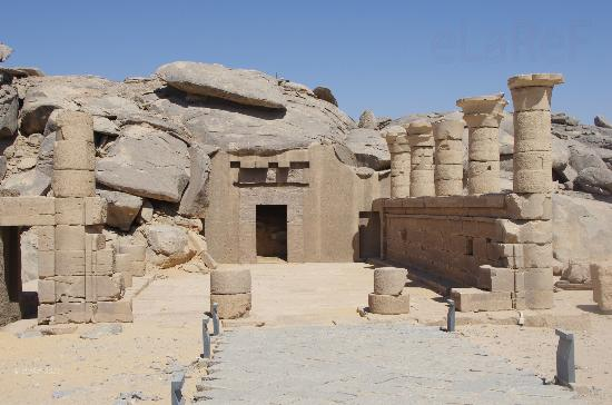 Imagen del templo excavado en la roca en Beit el Wali