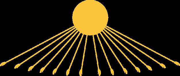 Imagen que muestra de manera simplificada la iconografía del nuevo Dios Atón