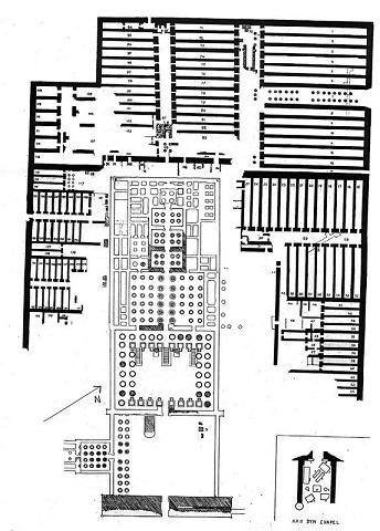 Planta del monumental complejo funerario de Ramsés II, el Ramesseum