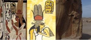 Representación de Nefertari, la Gran Esposa Real más conocida de Ramsés II