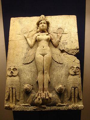Representación en relieve que podría representar a la diosa Ishtar o Astarté