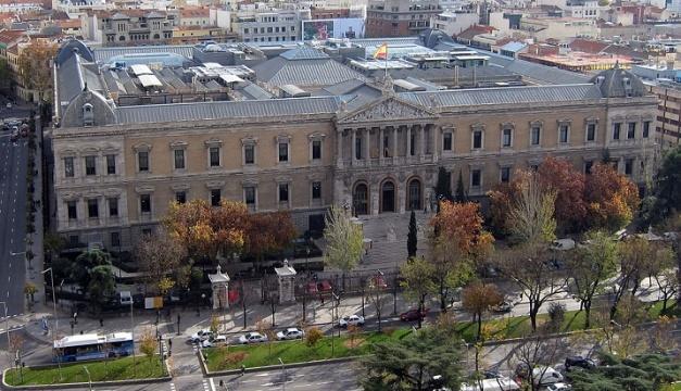 Vista aérea del estado actual de la Biblioteca Nacional de España