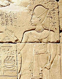 Bajorrelieve en el que se representaría a Ramsés IX