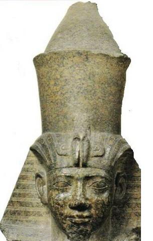 Busto del rey de la Dinastía XXV Shabaqo en el que se pueden ver estas modificaciones