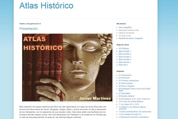 Captura de pantalla de este gran blog para iniciarte en el conocimiento de la Historia universal+
