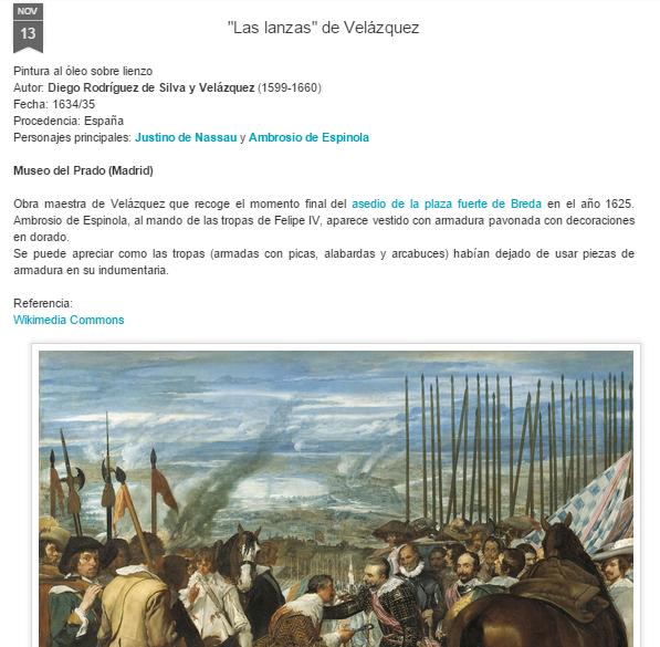 Captura de pantalla del análisis de una de estas obras de arte, en este caso, un Velázquez