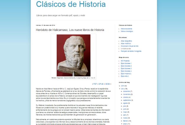 Captura de pantalla del mejor artículo de este blog de libros históricos para todos