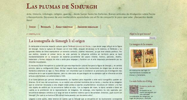 Captura de pantalla general de este gran blog de Historia oriental