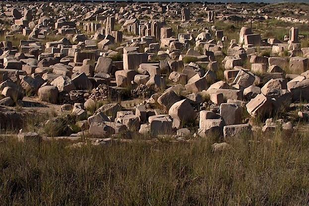 Imagen que muestra algunos de los restos de la ciudad egipcia de Bubastis