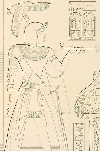 Relieve en el que se representaría a Ramsés VII
