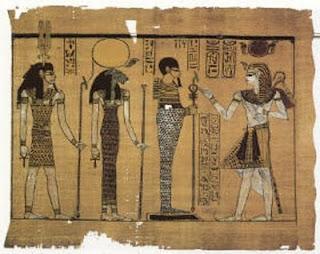 Una de las escenas del Gran Papiro de Harris, en el que se representa a Ramsés III