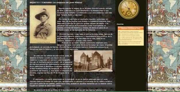 Captura de pantalla de uno de los artículos de este gran blog de Historia imperial del siglo XIX y XX