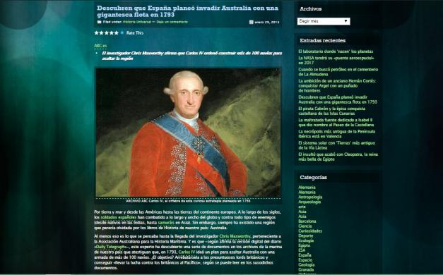 Captura de pantalla de uno de los artículos de este gran blog para mentes curiosas