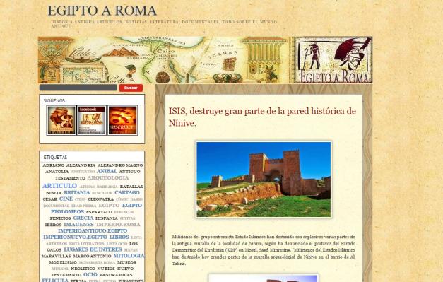 Captura de pantalla de uno de los artículos más recientes de este gran blog
