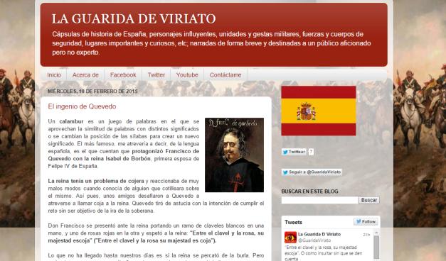Captura de pantalla general de este blog de Historia de España