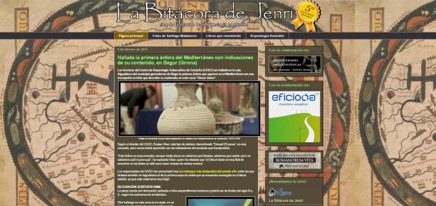 Captura de pantalla general de este gran blog de divulgación arqueológica española