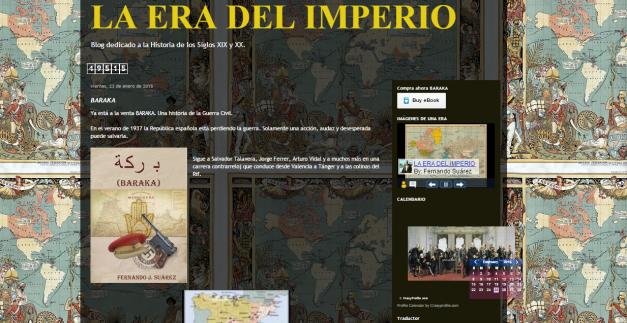 Captura de pantalla general de este gran blog de Historia imperial del siglo XIX y XX