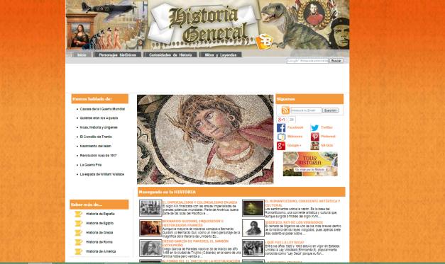 Captura de pantalla general de este magnífico blog de Historia Universal para todos
